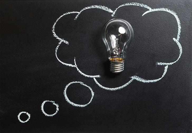likās, ka, ideja, inovācijas, iztēle, iedvesmu, spuldze, elektriskā spuldze