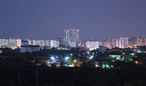 night city, city lights, night lights, street, night view, city, night