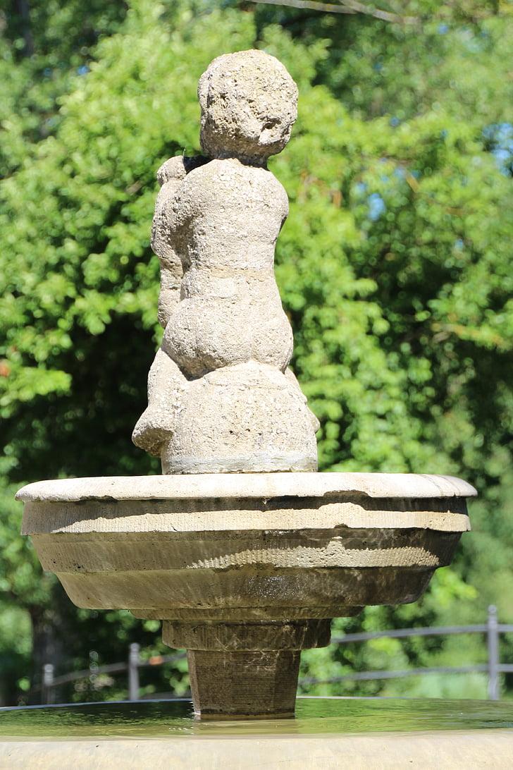 fontána, kamenný obrázok, Wells, Socha, projekt parzival fontána stavby