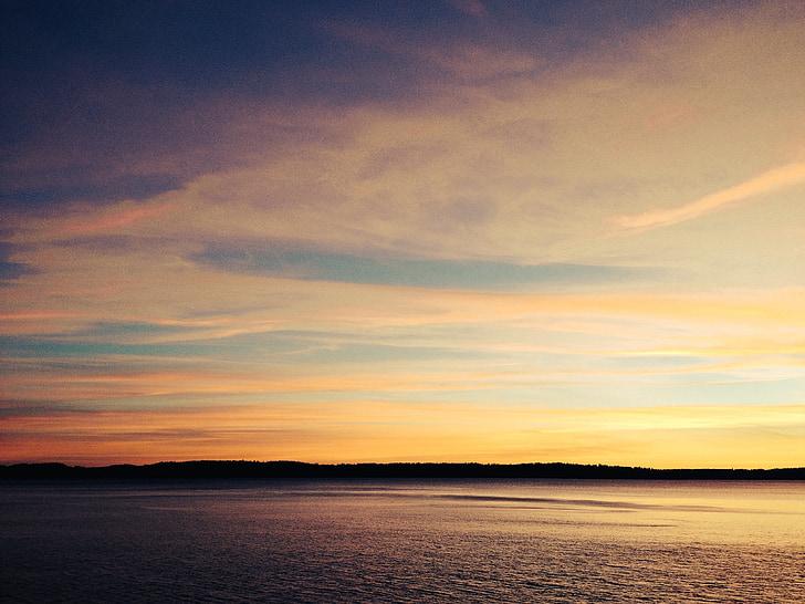 posta de sol, cel, passió, paisatge, colors, natura, desert