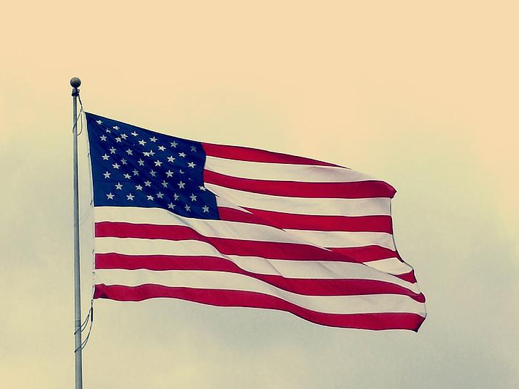amerikanske flag, USA flag, flag, symbol, USA, nationale, rød