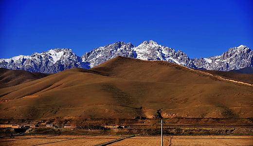 muntanya de neu, pastures, Qilian Shan, muntanya, natura, neu, paisatge