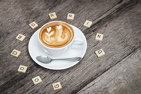 dzēriens, Brokastis, kofeīns, kapučīno, kafijas, kauss, kafijas tasi
