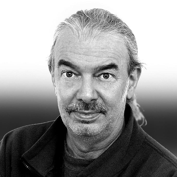 man, senior, black and white, male, older, portrait, close-up