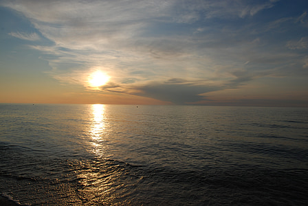 tôi à?, biển baltic, hoàng hôn, bờ biển của biển baltic, bờ biển, West, nước