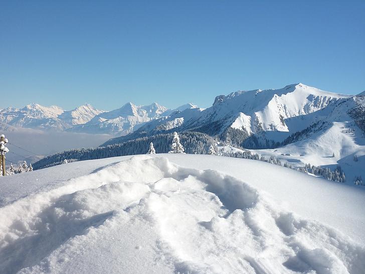 snow, winter, switzerland, mountains, snowy, mountain world