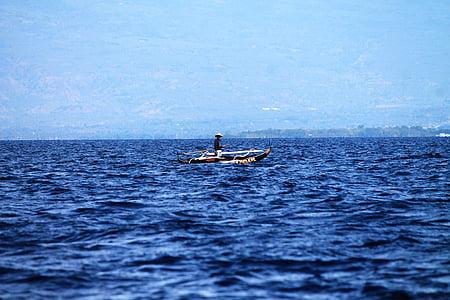 l'aigua blau, aigües blaves, vaixell, Mar profund, Mar, l'aigua