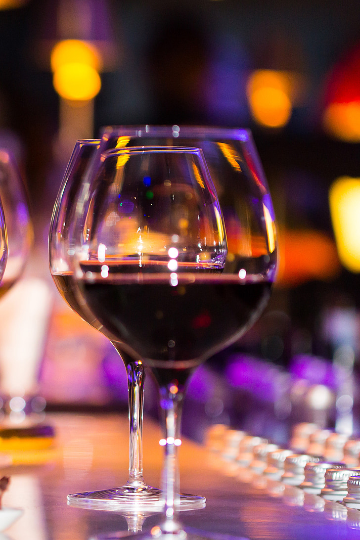 copes de vi, vi, recepció, vacances, entorn romàntic