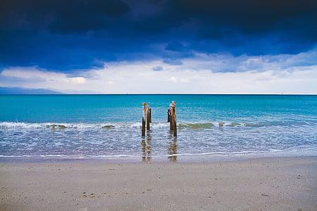 пляж, HD обои, идиллический, океан, песок, мне?, морской пейзаж