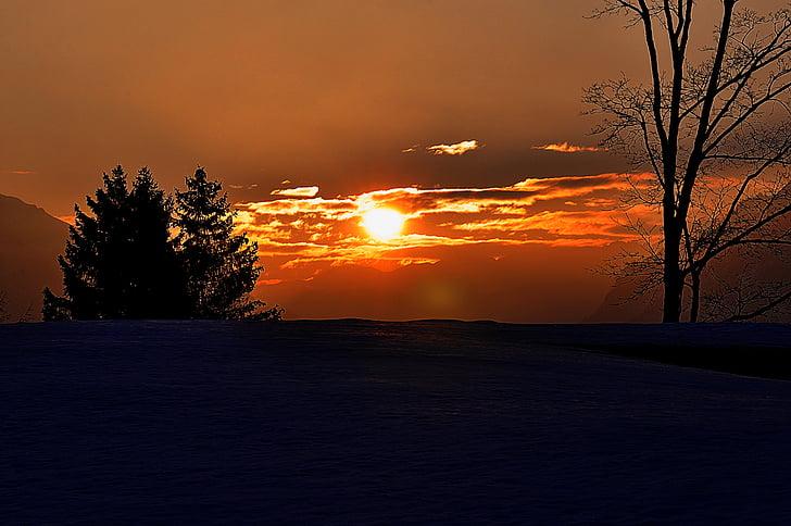 nascer do sol, pôr do sol, céu, iluminação, Skies, céu da noite, sol