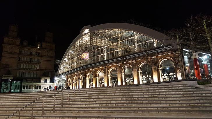Liverpool, carrer de la calç, estació de tren, merseyside, arquitectura, renom, Europa