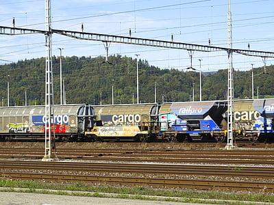 transport of goods, cargo, goods wagons, railway carriages, railway transport, logistics, transport