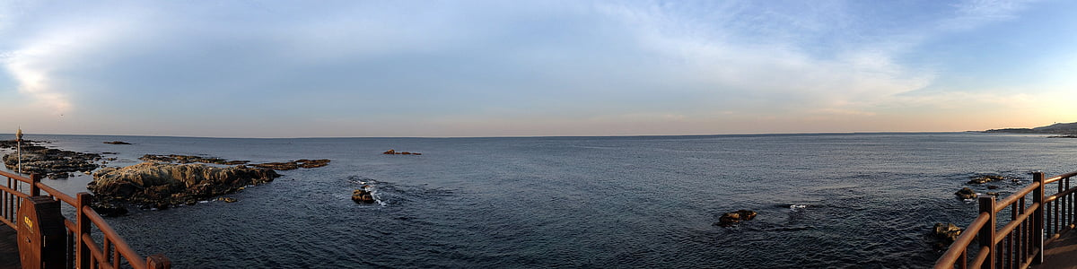 panorama, sea, republic of korea, homigot