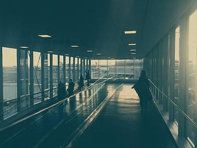 Sân bay, máy bay, đi du lịch, giao thông vận tải, mọi người, thiết bị đầu cuối
