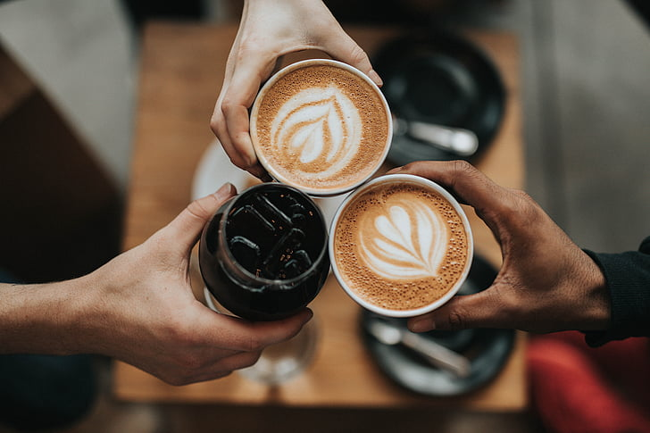 kopi, panas, minuman, espresso, Piala, kafe, kedai kopi