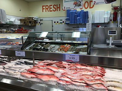 fish market, fish, seafood, raw, freshness, cold, price