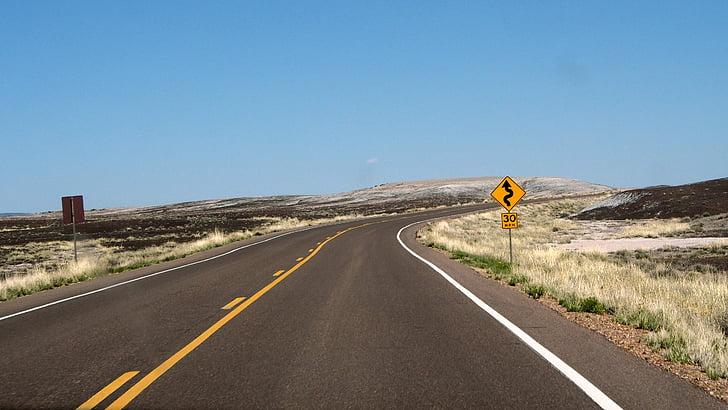 đường quanh co, chuyến đi đường, chuyến đi, đường giao thông