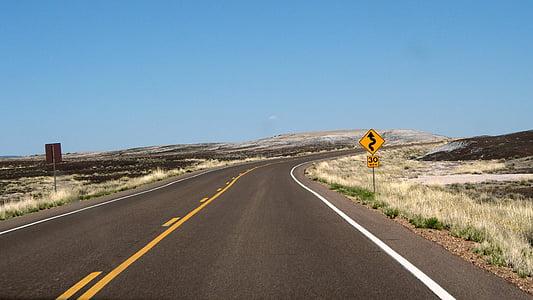carretera sinuosa, viatge per carretera, viatge, carreteres