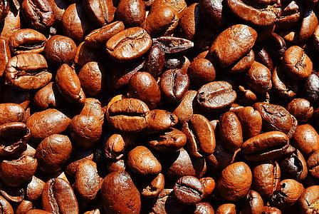bruin, cafeïne, Close-up, koffie, koffiebonen, geroosterde, Boon