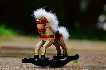 rocking horse, toys, wooden horse, children, wood, play, children toys