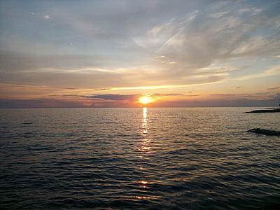 Захід сонця, Хорватія, abendstimmung, відпочинок, післясвічення, свято, Романтика
