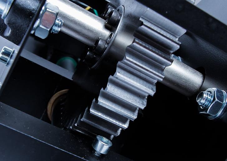Gear, macro, technologie, machines, moteurs, industrie, pignon