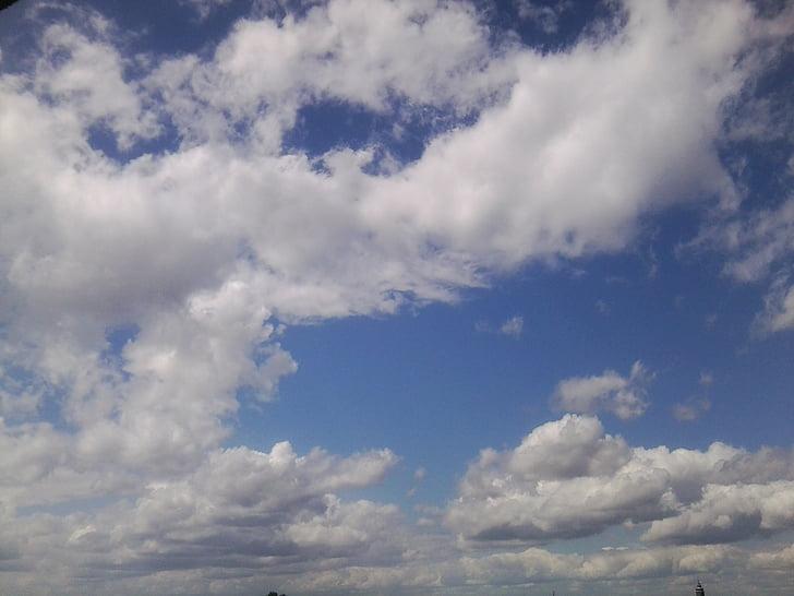 bầu trời, mùa hè, đám mây