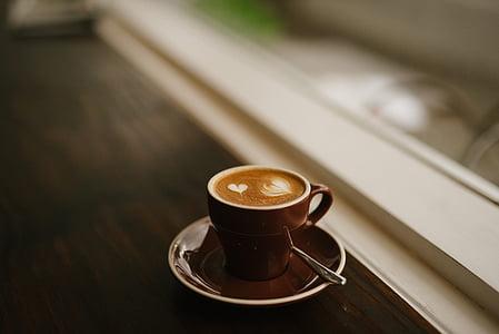 kofeīns, kapučīno, kafijas, kauss, dzēriens, espreso, krūze