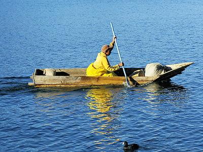guatemala, atitlan, boat, fisherman, lake, navigation, fisherman boat