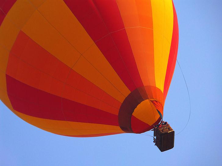 balloon, sky, hot air ballooning, colorful