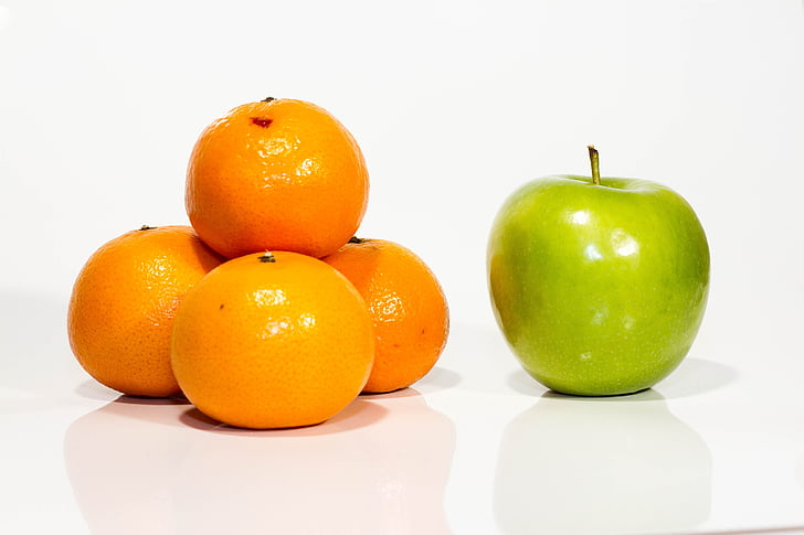 アップル, オレンジ, フルーツ, 鮮度, 食品, 柑橘系の果物, オレンジ - フルーツ