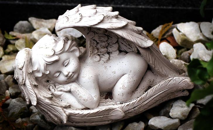 angelas, paveikslas, skulptūra, miega, Poilsio, Harmonija, statula