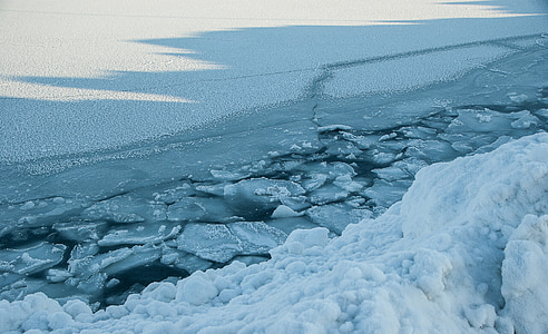 Ice, isflak, havet gelé, Artic ocean