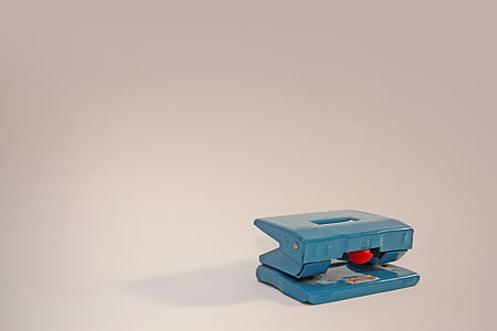 double hole punch, office, vintage, studio shot, technology, no people, white background