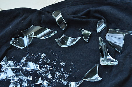 ガラスの破片, ガラス, 粉々 になった, 破壊, 休憩, 壊れた, 粉々 に砕けたガラス
