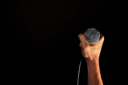 аудіо, концерт, Рука, медіа, мікрофон, мікрофон, музика