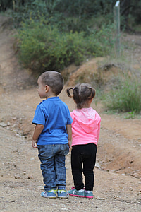 children, girl, excursion, happy, happy children, twins