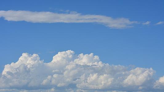 clouds, cumulus, sky, storm, rain, cloudy, blue