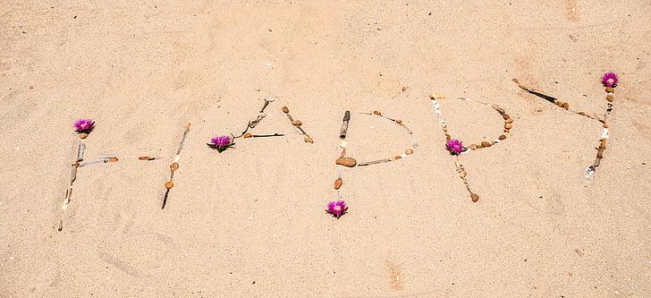 sajūta, jautrs, laimīgs, atvaļinājums, jūra, pludmale, dzīvot