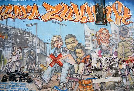 graffiti, Street art, Városi Művészeti, falfestmény, Art, spray, graffiti fal