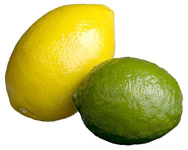 Lemon lime, Lime lemon, Citrus, citronu, Laima, zaļa, dzeltena