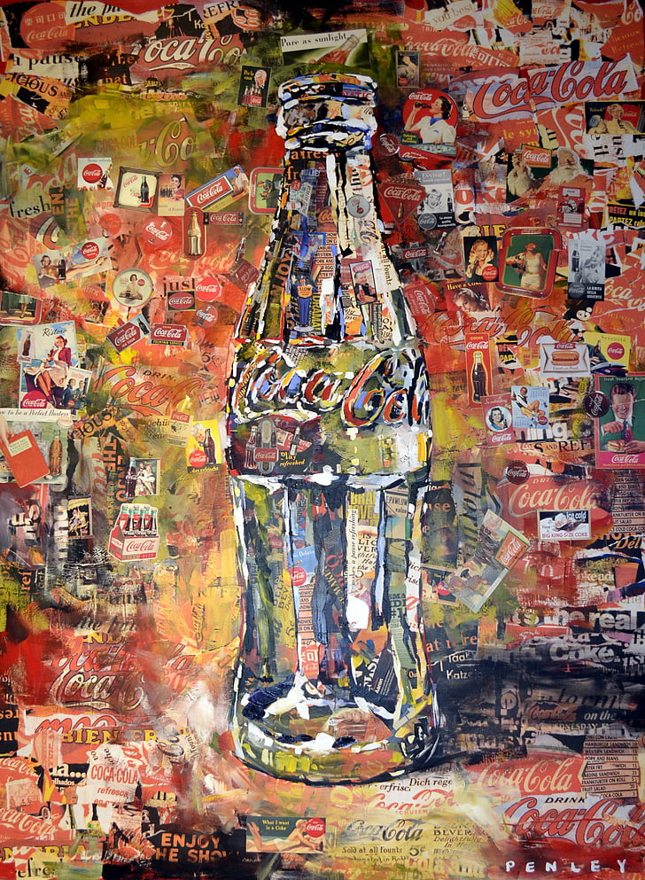 Coca-cola, Art, graffiti, Atlanta, Geòrgia, begudes, ampolla