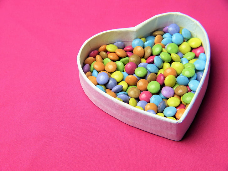 südame, smarties, roosa, magusus, kutse, Armastus, Sünnipäev