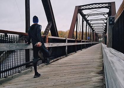 prost dostop, tekač, športnik, fitnes, uresničevanje, most - človek je struktura, moški