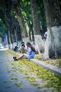 photoshoot, fotograf, park, lley, ulica, na prostem, dejavnosti v prostem času