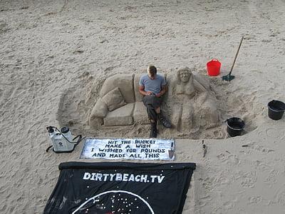 sand, art, sculpture, beach