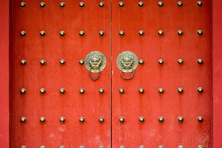 uks, te xian tower, Hiina stiilis, arhitektuur, Gate, ukse koputaja, sissepääs