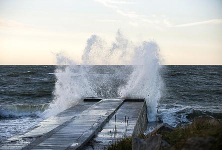 Βαλτική θάλασσα, στη θάλασσα, Ακτή, παραλία, φύση, κύμα, νερό