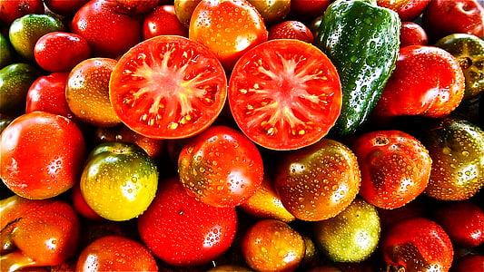fruita, tomàquet, vegetals, natura, verdures