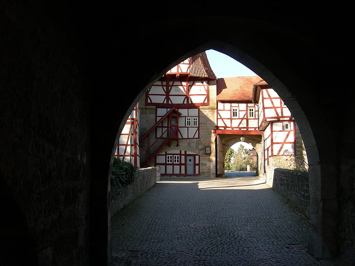 iphofen, rödelseer gate, lower franconia, franconian wine country